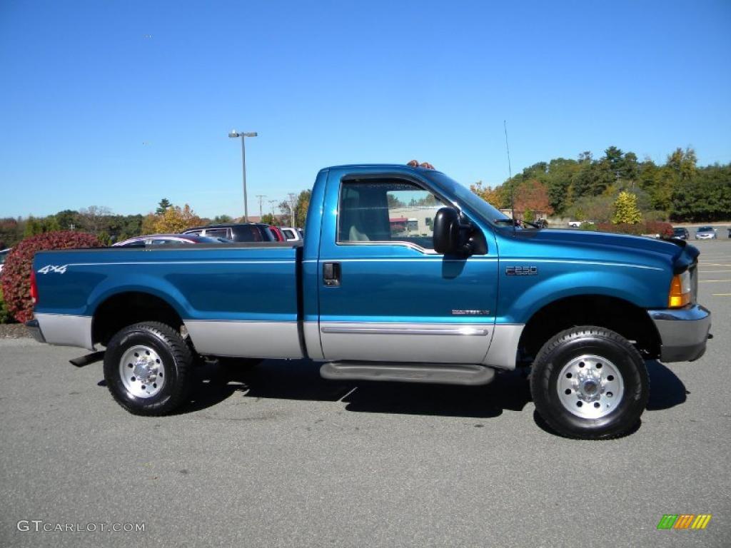 1999 Ford F250 Xl Crew Cab Super Duty News >> Island Blue Metallic 2000 Ford F250 Super Duty XLT Regular Cab 4x4 Exterior Photo #40628098 ...