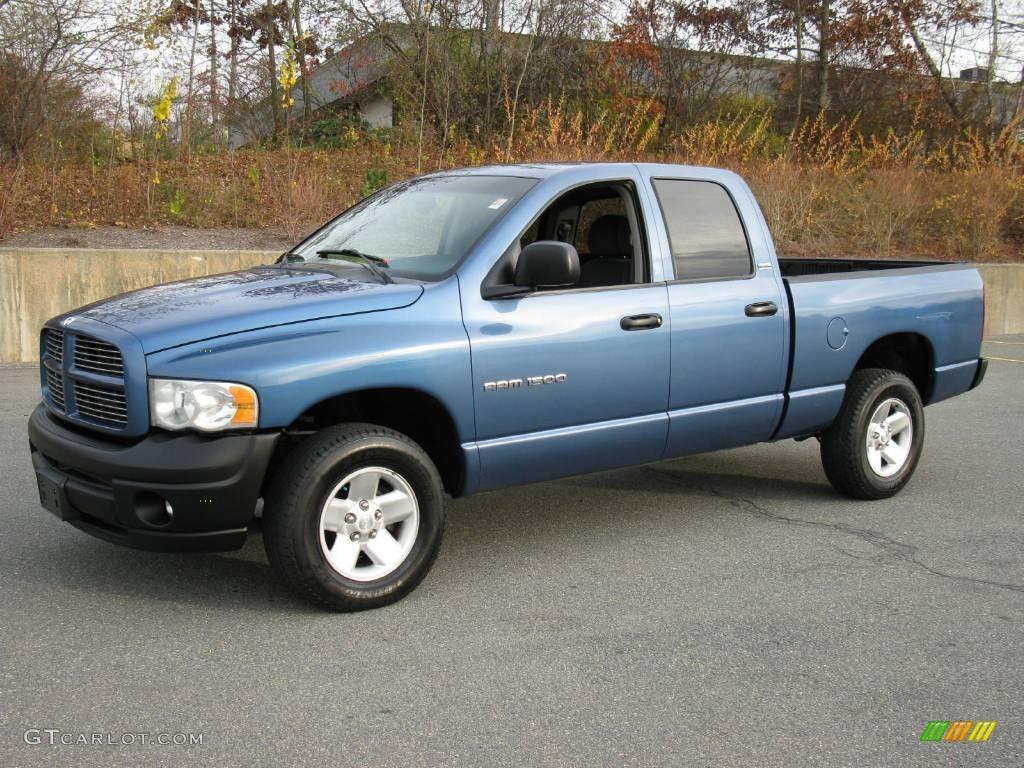 2002 Ram 1500 Sport Quad Cab 4x4 - Atlantic Blue Pearl / Navy Blue photo #1