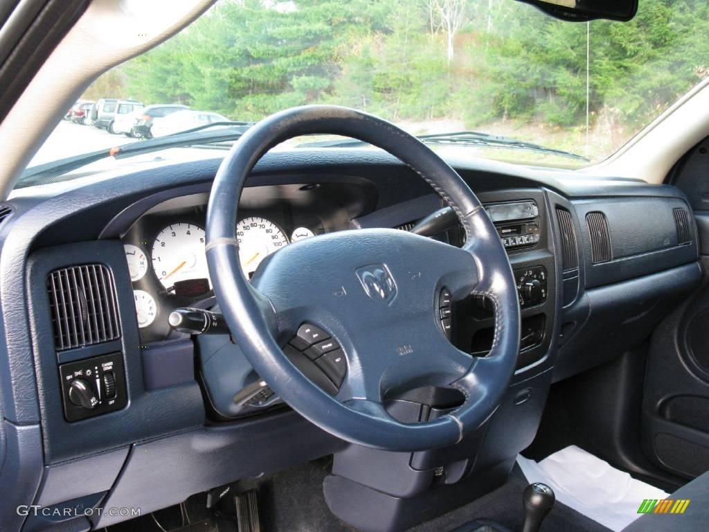 Navy Blue Interior 2002 Dodge Ram 1500 Sport Quad Cab 4x4 Photo 40635470 Gtcarlot Com