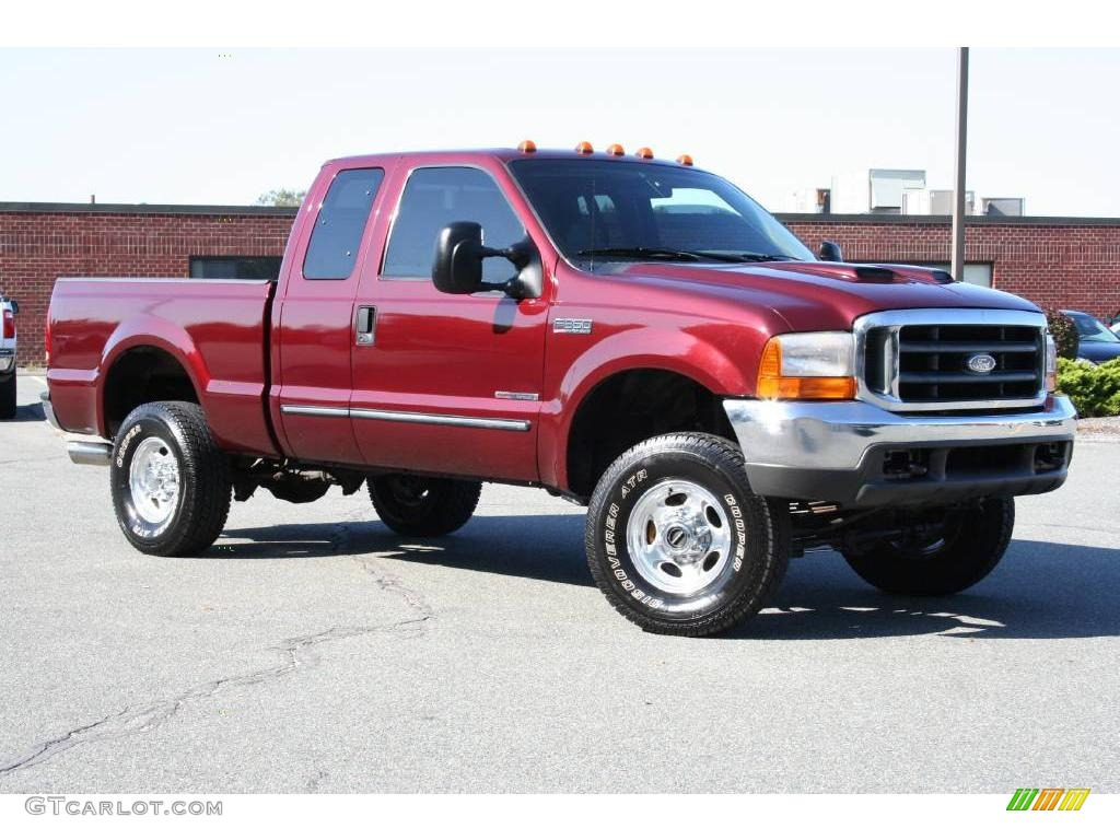 Dark toreador red metallic ford f350 super duty