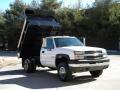 2003 Summit White Chevrolet Silverado 3500 Regular Cab 4x4 Chassis Dump Truck  photo #30
