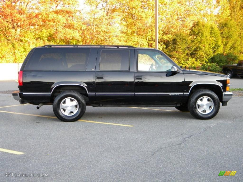 Onyx black 1997 chevrolet suburban k1500 lt 4x4 exterior photo 40641174 gtcarlot com
