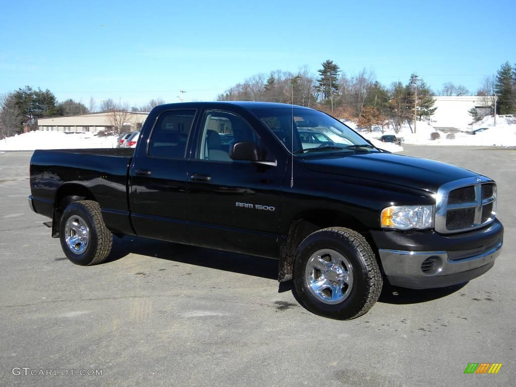 black 2002 dodge ram 1500 st quad cab 4x4 exterior photo 40646174. Black Bedroom Furniture Sets. Home Design Ideas