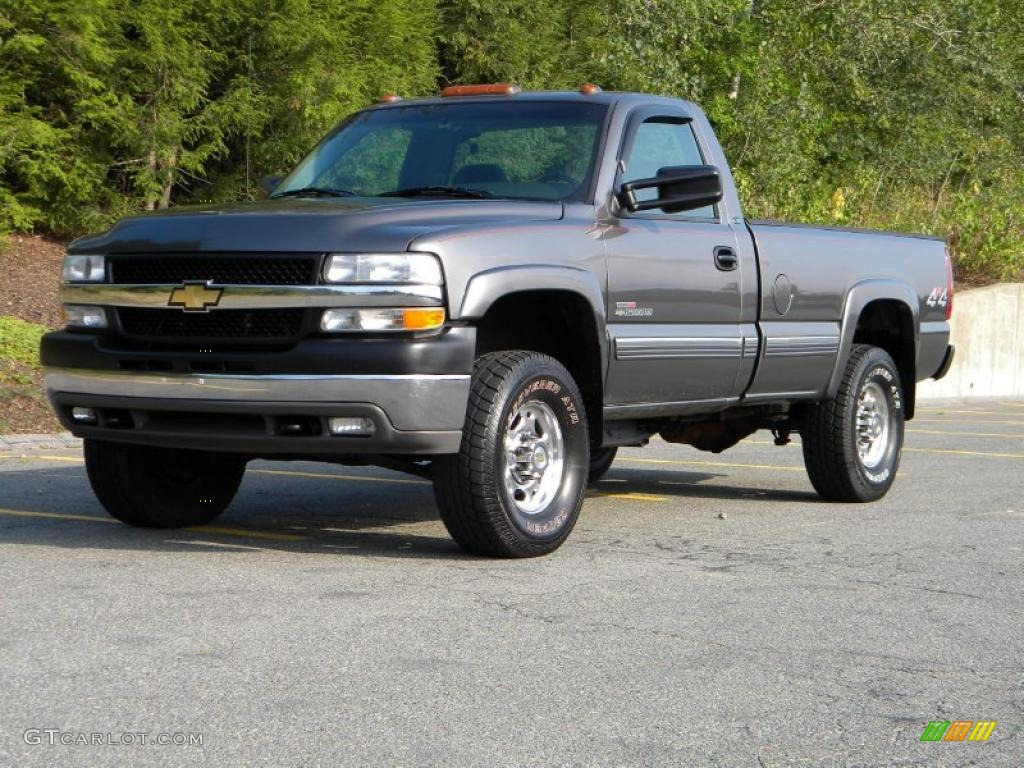 Medium Charcoal Gray Metallic 2001 Chevrolet Silverado 2500HD LS Regular Cab 4x4 Exterior Photo ...