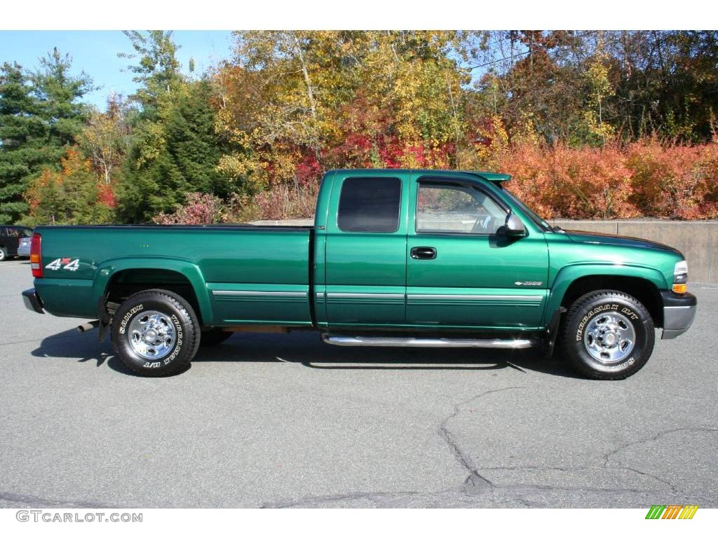 meadow green metallic 2000 chevrolet silverado 2500 lt extended cab 4x4 exterior photo 40649058. Black Bedroom Furniture Sets. Home Design Ideas