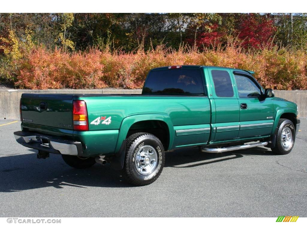 meadow green metallic 2000 chevrolet silverado 2500 lt extended cab 4x4 exterior photo 40649070. Black Bedroom Furniture Sets. Home Design Ideas