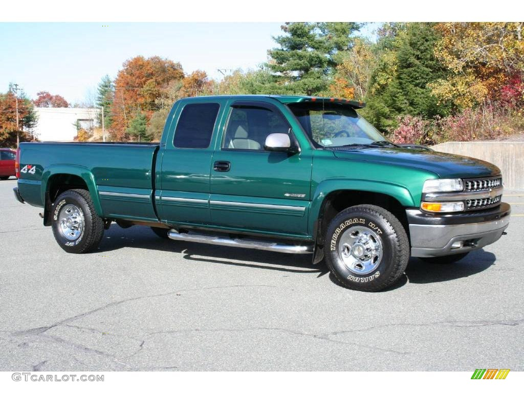 meadow green metallic 2000 chevrolet silverado 2500 lt extended cab 4x4 exterior photo 40649102. Black Bedroom Furniture Sets. Home Design Ideas