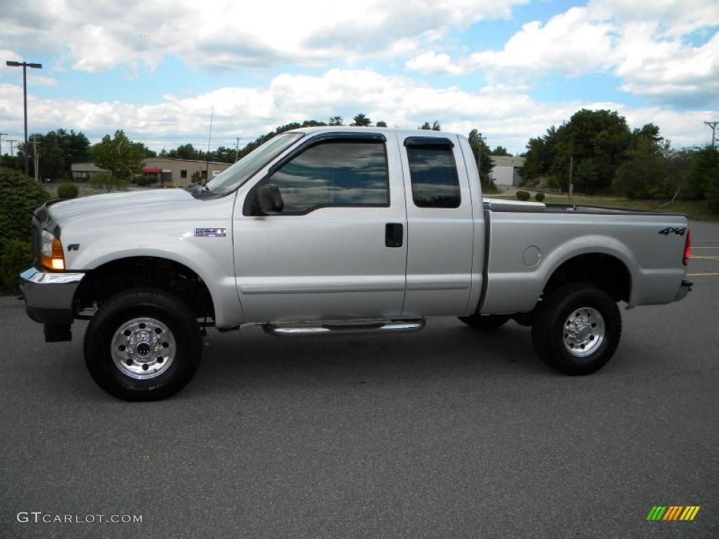 silver metallic 2001 ford f250 super duty xl supercab 4x4 exterior photo 40653695. Black Bedroom Furniture Sets. Home Design Ideas