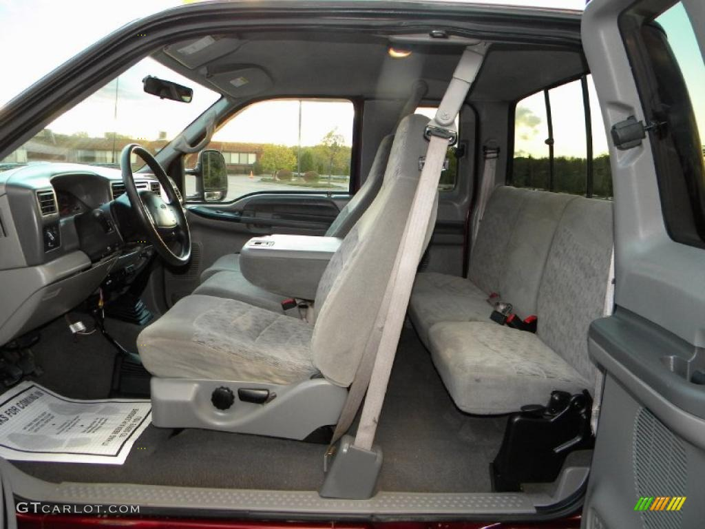 Medium graphite interior 2000 ford f250 super duty xlt extended cab 4x4 photo 40654482