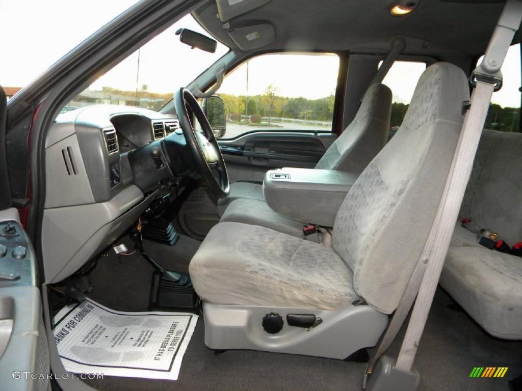 medium graphite interior 2000 ford f250 super duty xlt extended cab 4x4 photo 40654490