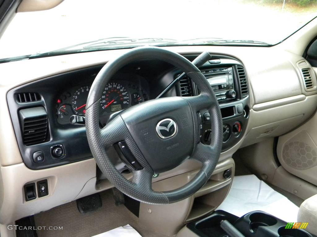 beige interior 2001 mazda tribute lx v6 photo 40659817. Black Bedroom Furniture Sets. Home Design Ideas