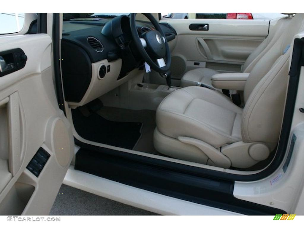 Cream Beige Interior 2008 Volkswagen New Beetle S Convertible Photo 40664891