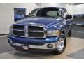 2002 Atlantic Blue Pearl Dodge Ram 1500 SLT Quad Cab  photo #2