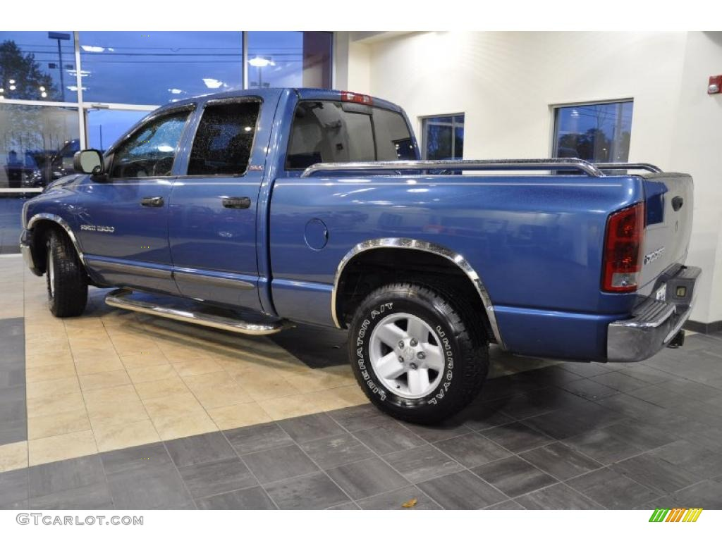2002 Ram 1500 SLT Quad Cab - Atlantic Blue Pearl / Dark Slate Gray photo #9