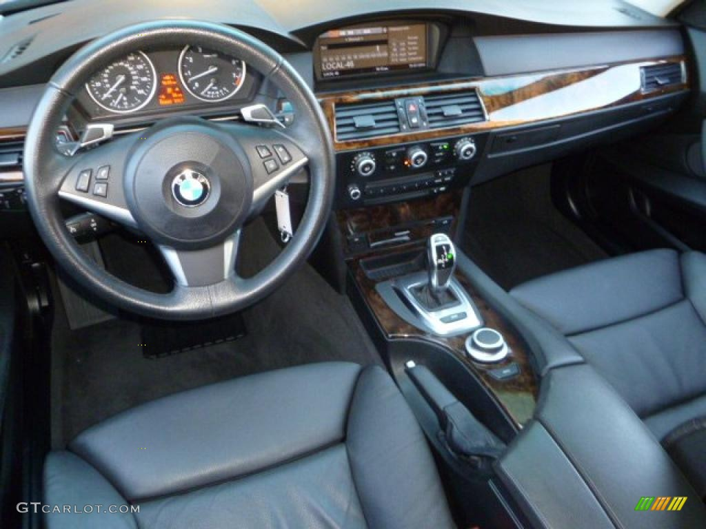 Black Interior 2008 Bmw 5 Series 535i Sedan Photo