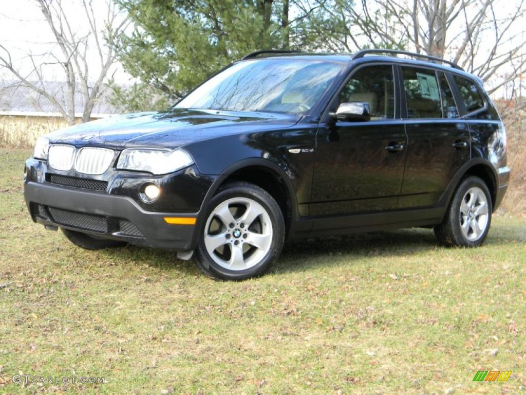 black sapphire metallic 2007 bmw x3 exterior photo 40679670. Black Bedroom Furniture Sets. Home Design Ideas