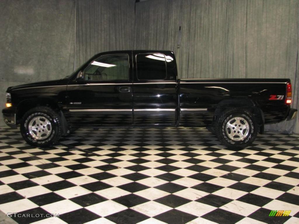 1999 onyx black chevrolet silverado 1500 lt extended cab 4x4 40668027 car. Black Bedroom Furniture Sets. Home Design Ideas