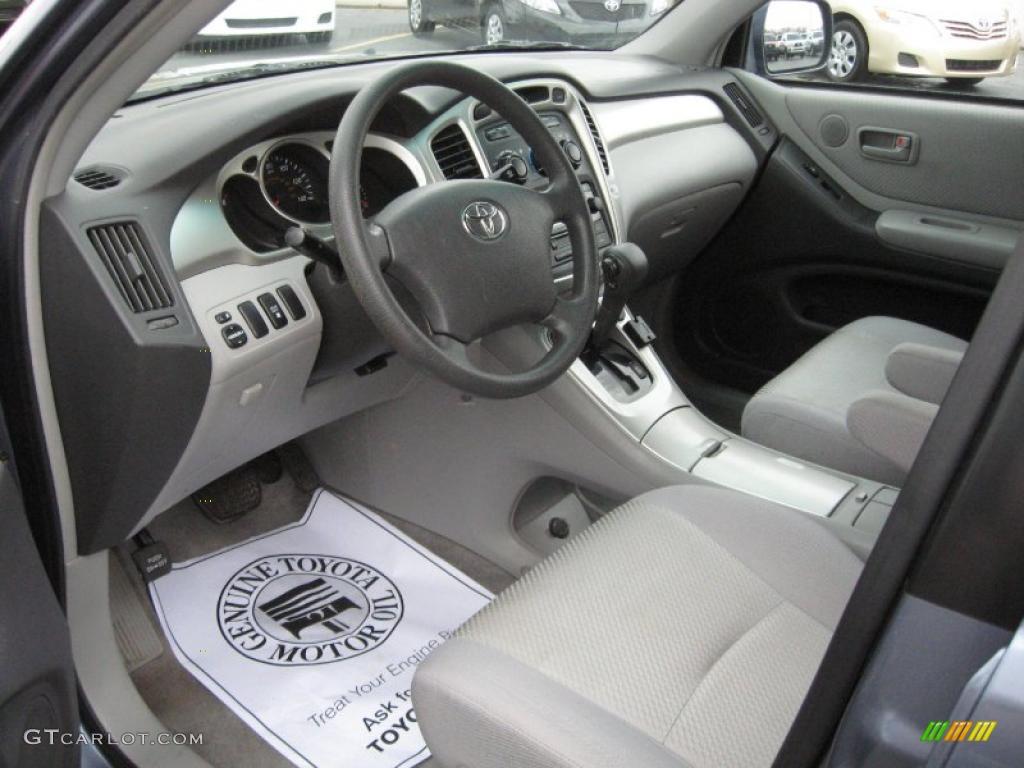Ash Gray Interior 2006 Toyota Highlander V6 4wd Photo 40701573