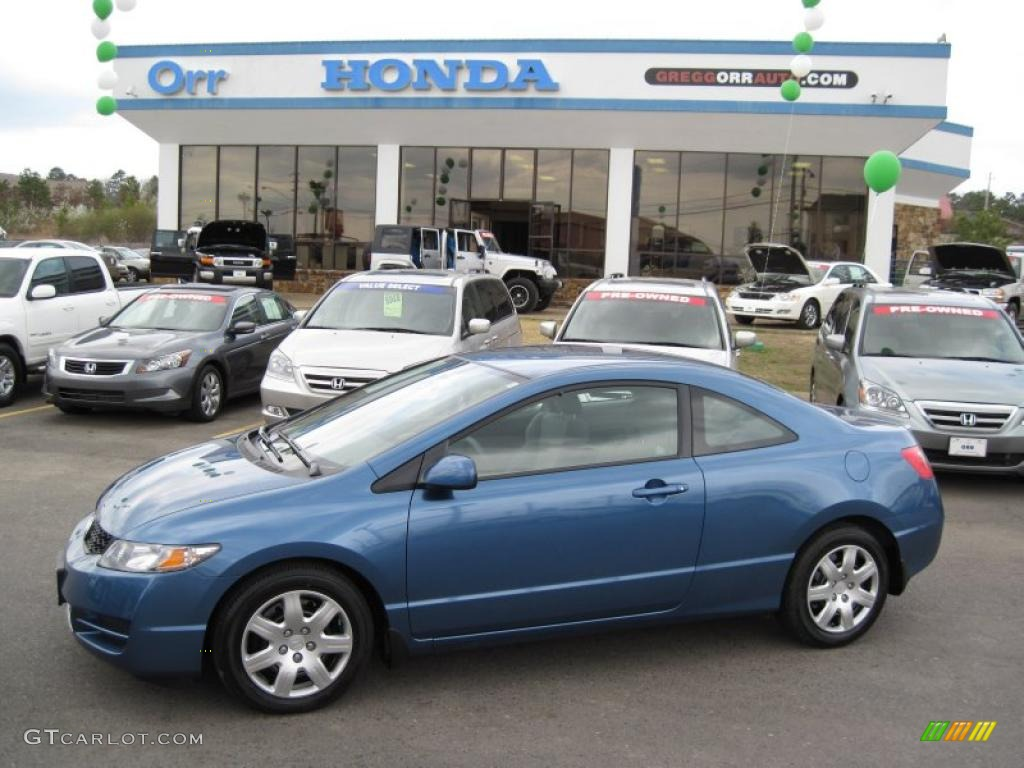 2010 atomic blue metallic honda civic lx coupe 40700195 car color galleries. Black Bedroom Furniture Sets. Home Design Ideas