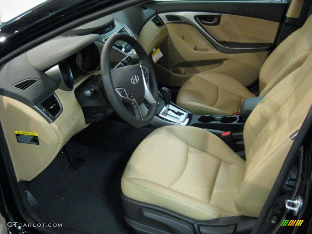 Beige Interior 2011 Hyundai Elantra Limited Photo 40707421
