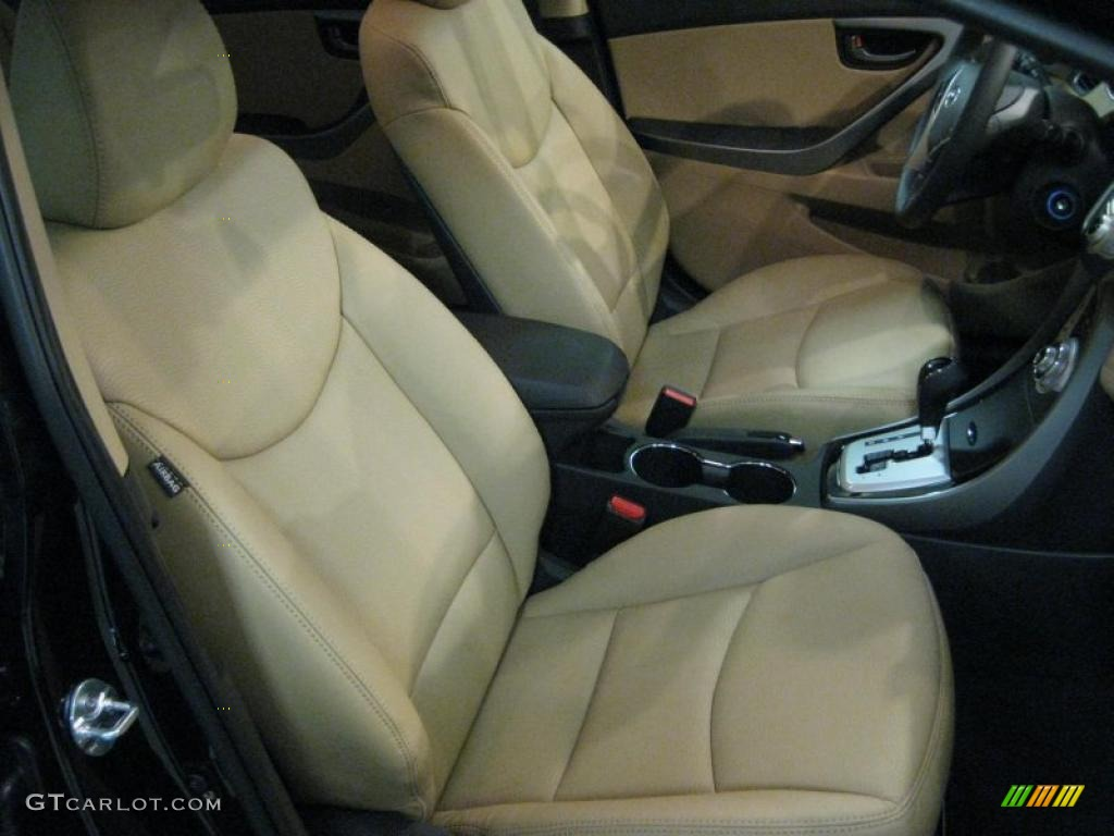 Beige Interior 2011 Hyundai Elantra Limited Photo 40707513