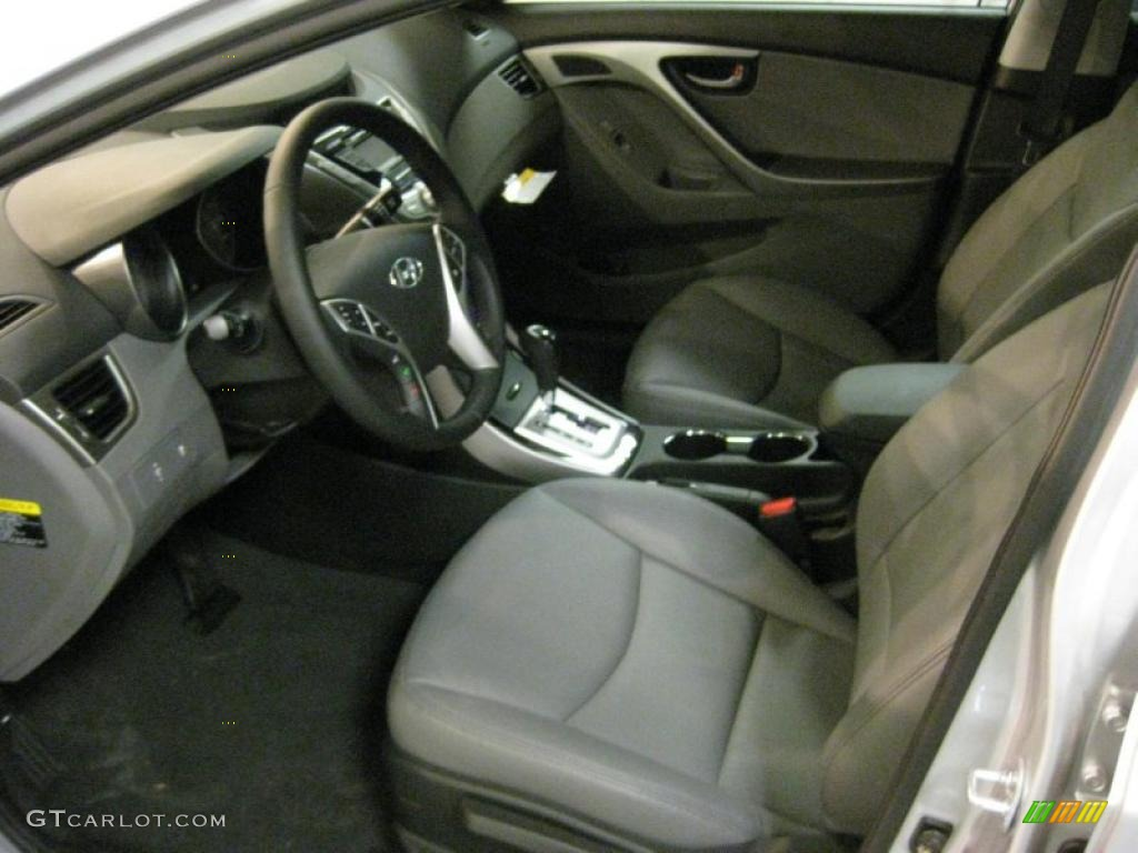 Gray Interior 2011 Hyundai Elantra Limited Photo 40707869