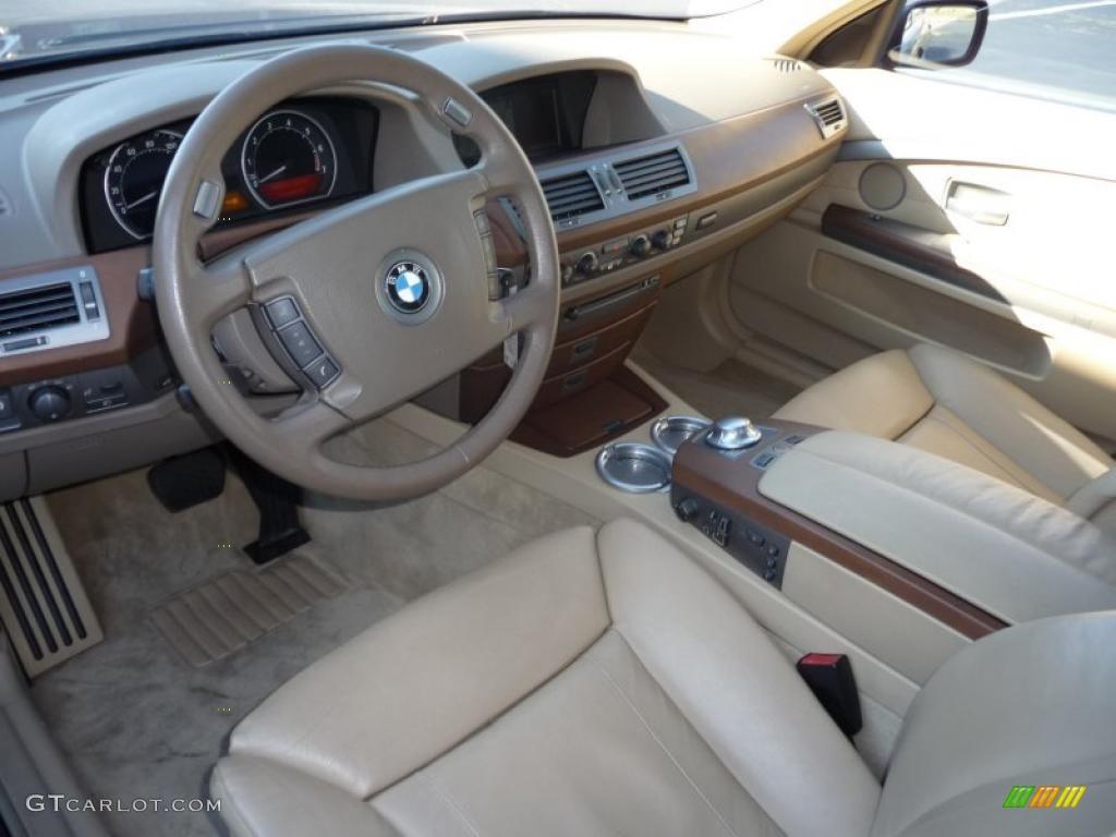 Beige III Interior 2002 BMW 7 Series 745Li Sedan Photo 40726546