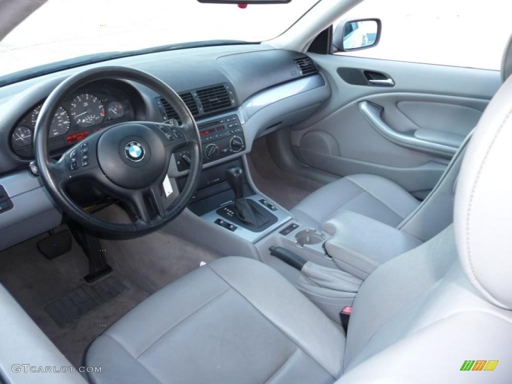 Grey Interior 2001 Bmw 3 Series 325i Coupe Photo 40726866