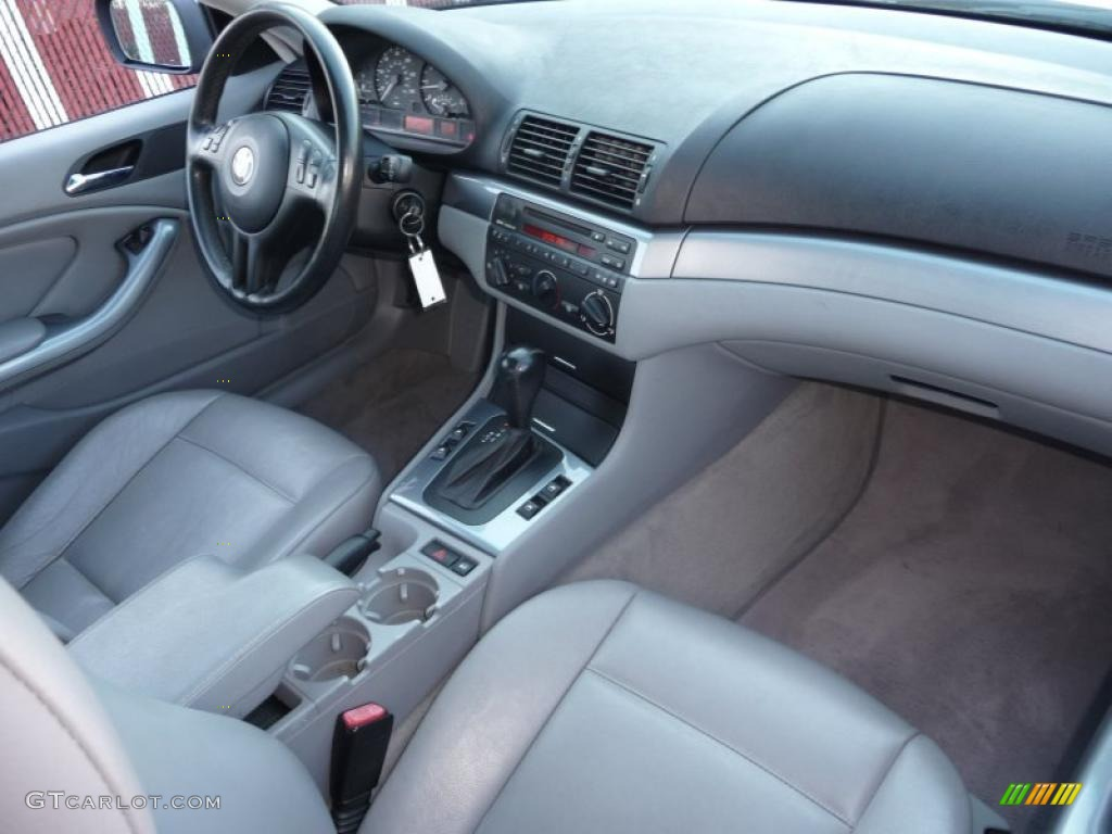 2001 Bmw 3 Series 325i Coupe Grey Dashboard Photo 40726886