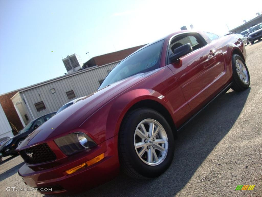 2007 Mustang V6 Deluxe Coupe - Torch Red / Dark Charcoal photo #1