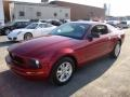 2007 Torch Red Ford Mustang V6 Deluxe Coupe  photo #2