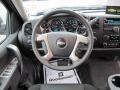2010 Chevrolet Silverado 1500 Ebony Interior Steering Wheel Photo