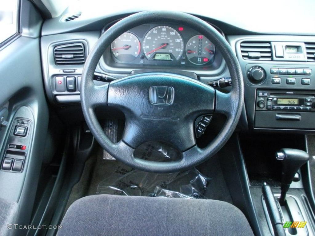 2001 Honda Accord LX Coupe Charcoal Steering Wheel Photo 40737363