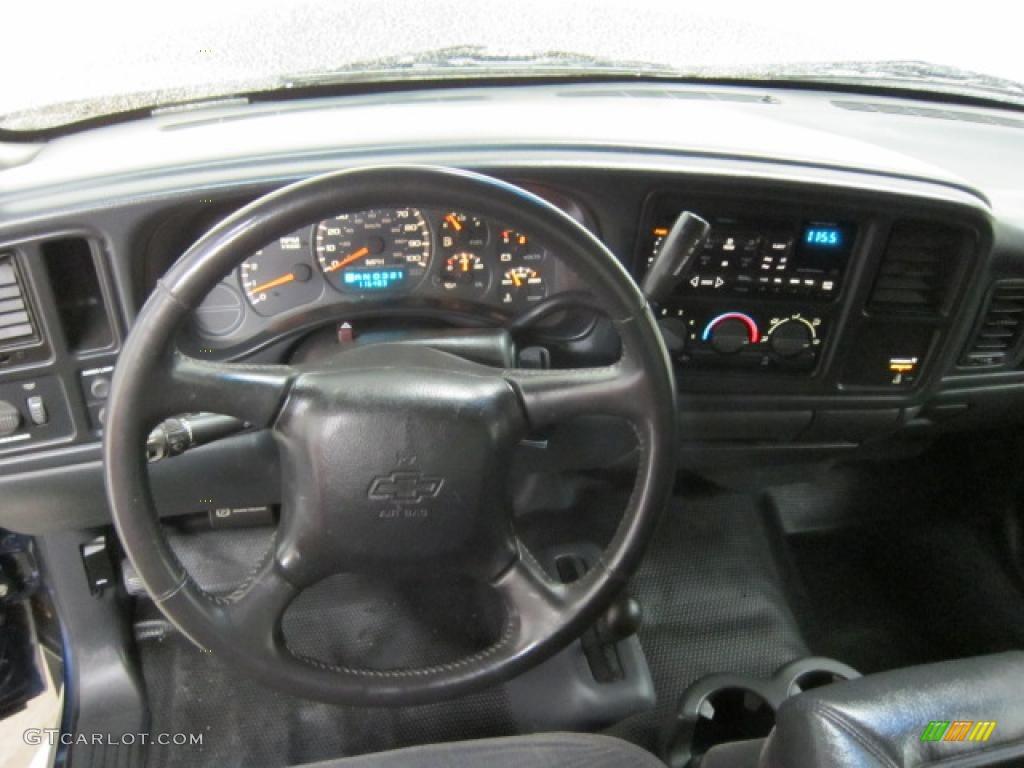 2002 Chevrolet Silverado 1500 LS Regular Cab 4x4 Graphite Gray Dashboard Photo #40760423