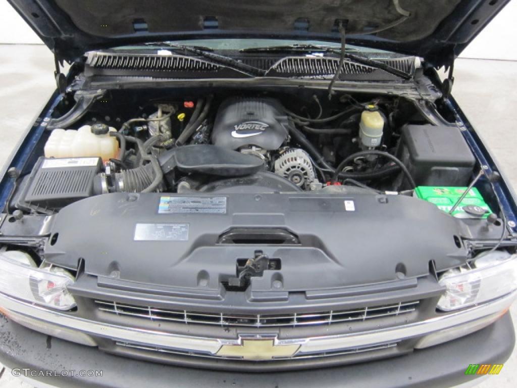 2002 Chevrolet Silverado 1500 LS Regular Cab 4x4 4.8 Liter OHV 16 Valve Vortec V8 Engine Photo #40760503
