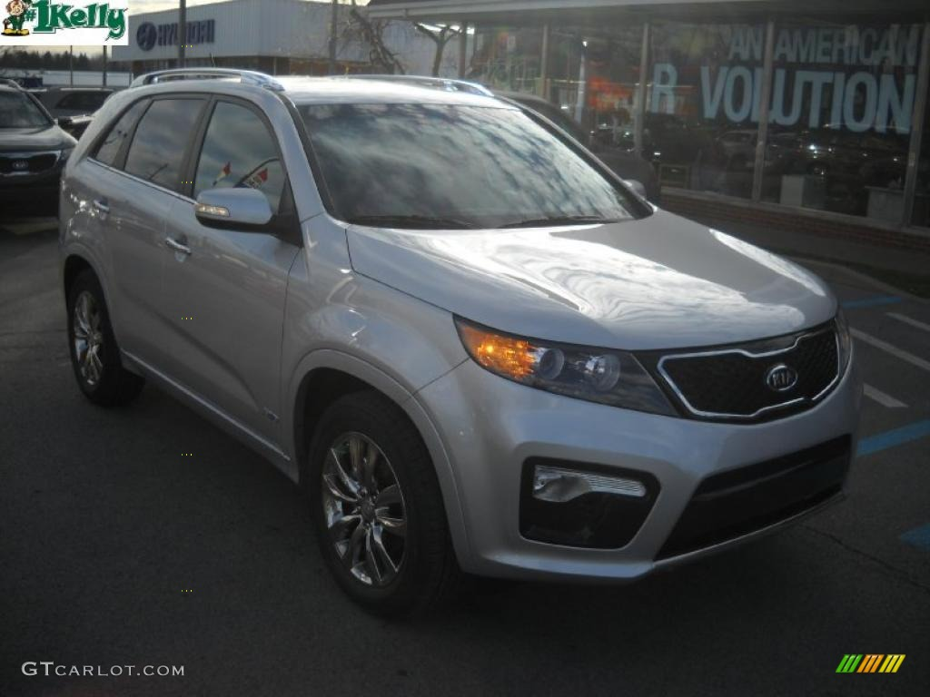 2011 Sorento SX V6 AWD - Bright Silver / Black photo #1