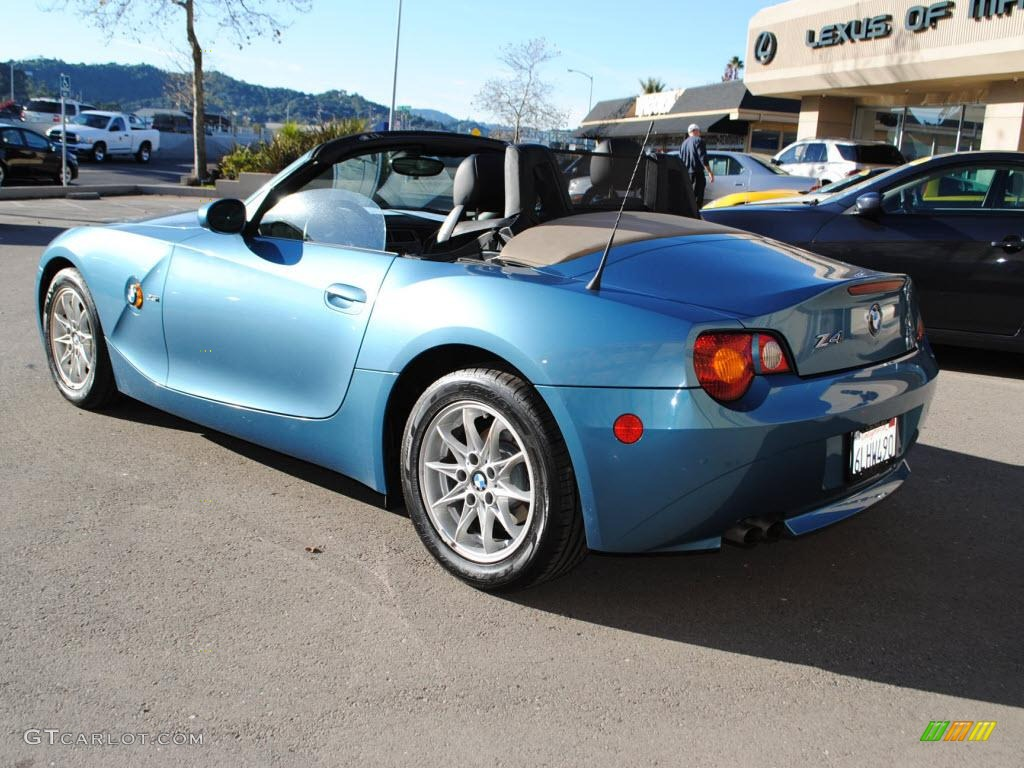 Maldives Blue Metallic 2003 Bmw Z4 2 5i Roadster Exterior