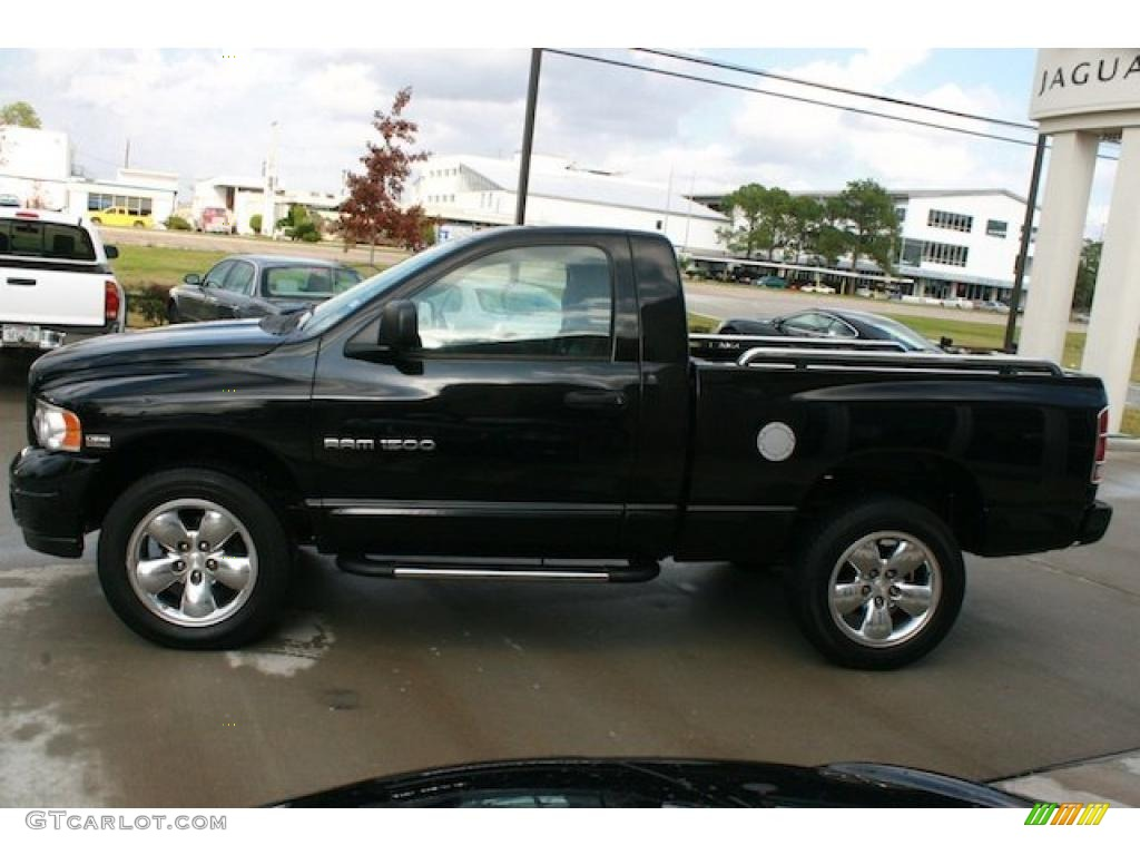 Black 2004 dodge ram 1500 slt regular cab 4x4 exterior photo 40796575