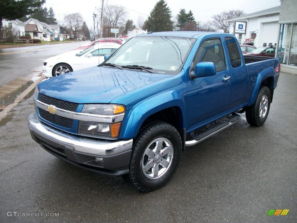 aqua blue metallic 2011 chevrolet colorado lt extended cab. Black Bedroom Furniture Sets. Home Design Ideas