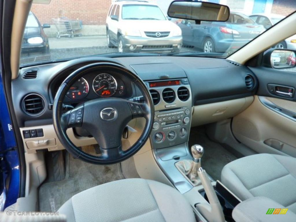 Beige Interior 2005 Mazda Mazda6 I Sport Hatchback Photo