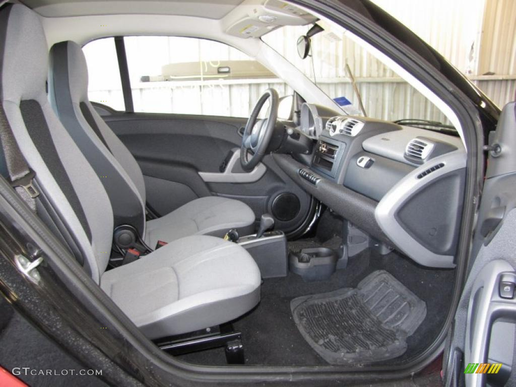 gray interior 2009 smart fortwo pure coupe photo 40808535. Black Bedroom Furniture Sets. Home Design Ideas