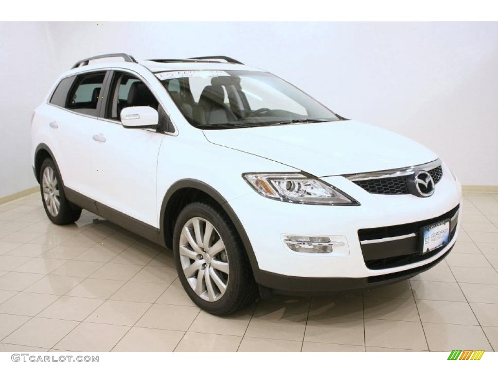 2008 crystal white pearl mica mazda cx 9 grand touring awd. Black Bedroom Furniture Sets. Home Design Ideas