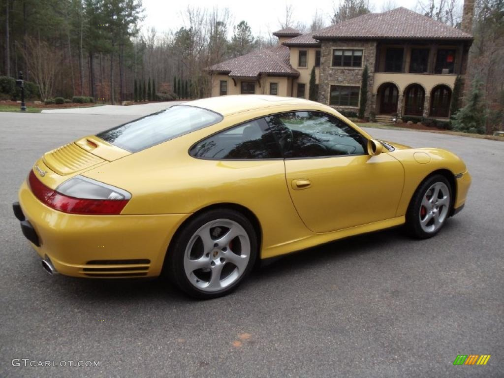 speed yellow 2004 porsche 911 carrera 4s coupe exterior. Black Bedroom Furniture Sets. Home Design Ideas