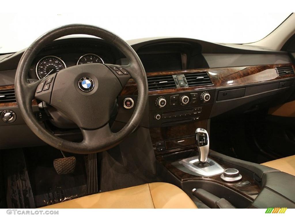 Natural brown dakota leather interior 2008 bmw 5 series 535xi sports wagon photo 40828889