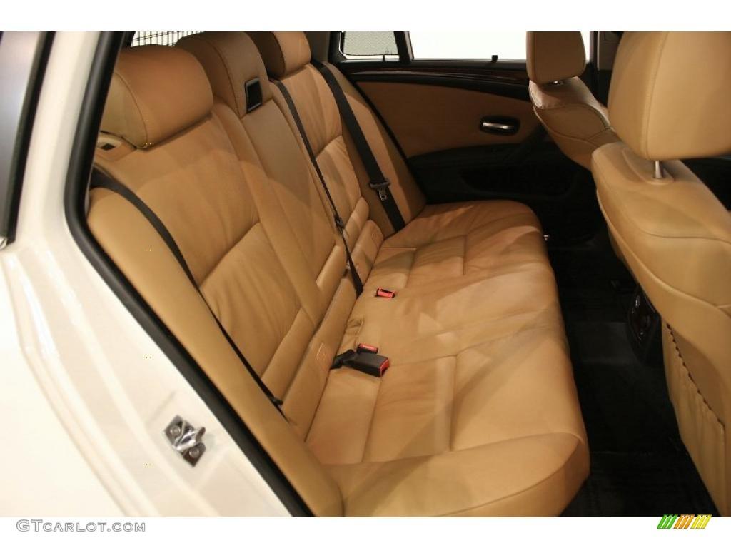 Natural brown dakota leather interior 2008 bmw 5 series 535xi sports wagon photo 40829085