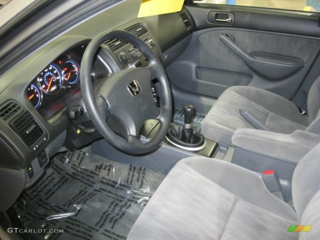2004 Honda Civic LX Sedan Interior Photo #40830513