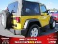 2011 Detonator Yellow Jeep Wrangler Sport S 4x4  photo #3