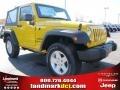 2011 Detonator Yellow Jeep Wrangler Sport S 4x4  photo #4