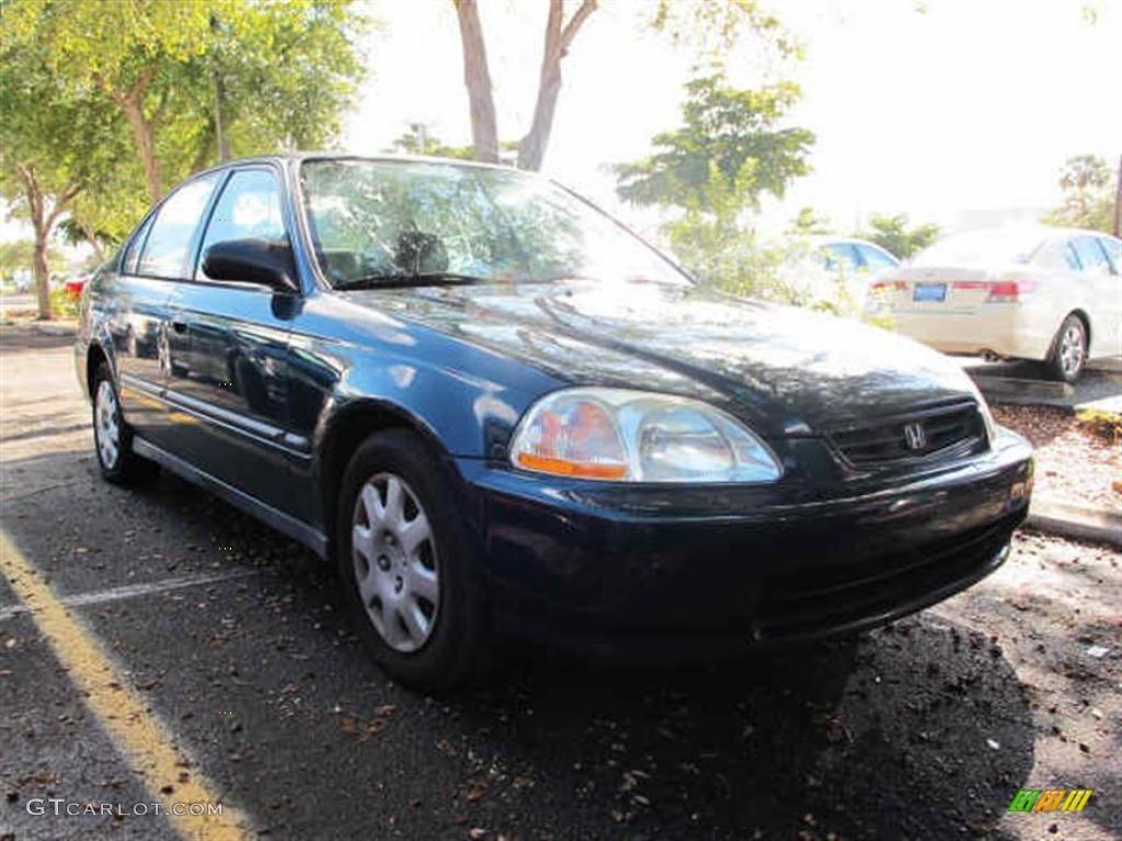 1998 dark green pearl metallic honda civic dx sedan for Honda civic dx 1998