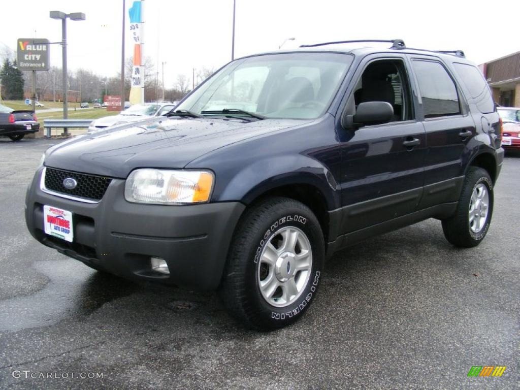 true blue metallic 2003 ford escape xlt v6 exterior photo. Black Bedroom Furniture Sets. Home Design Ideas